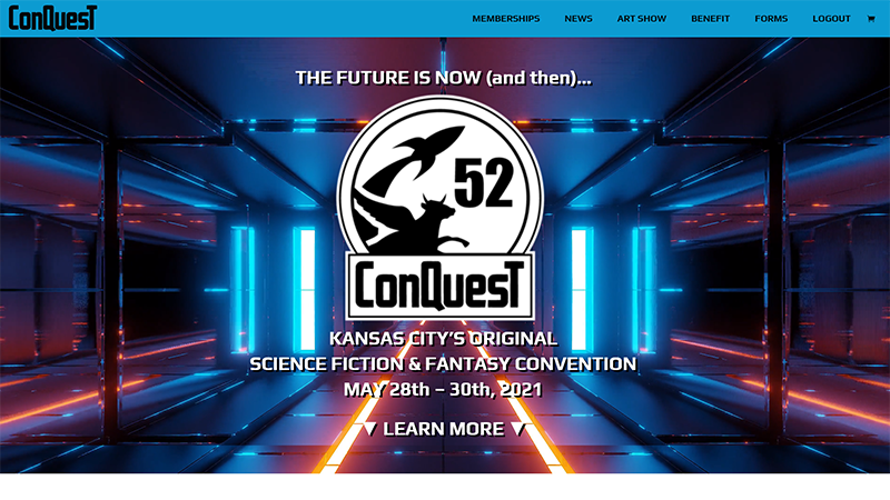 ConQuesT-52 Website Home Page