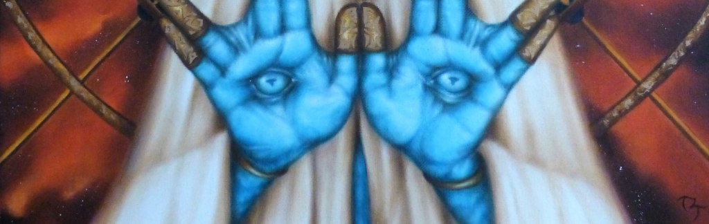 """Detail from """"The Seer"""" by Toni L. Taylor"""