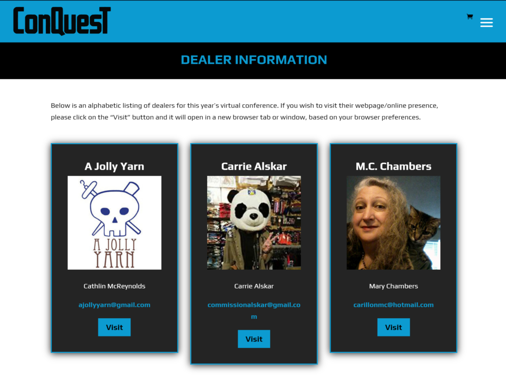 ConQuesT Has A Dealers Room!